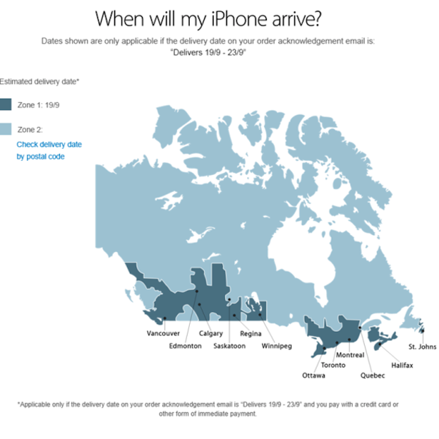 Doh canada apples latest map mixes up toronto and ottawa the apples latest map mixes up toronto and ottawa the atlantic sciox Image collections