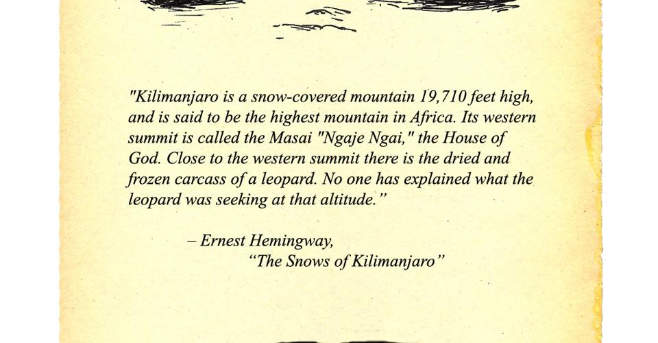 the snows of kilimanjaro short story