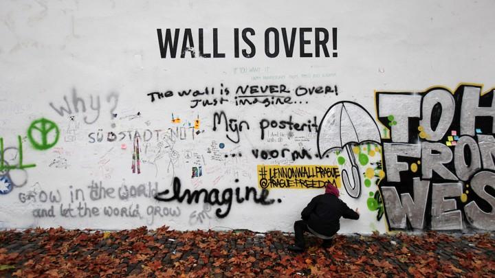 Prague\'s John Lennon Wall Painted Over - The Atlantic