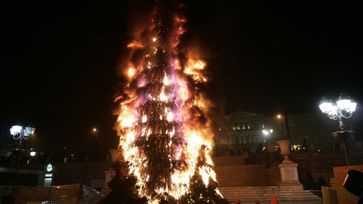 Christmas Tree On Fire.A Christmas Tree That Puts Out Its Own Fires The Atlantic