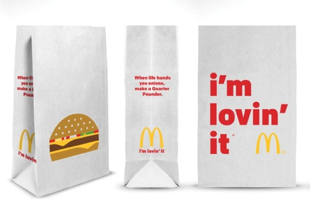 """McDonald's Releases New Takeout Bags Featuring """"I'm Lovin ..."""