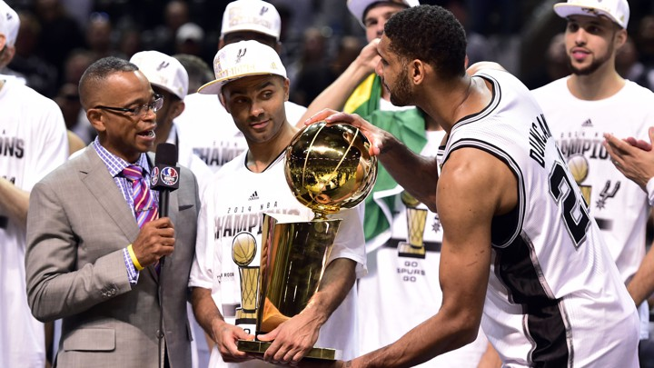 aaa81a465a8 ... interviewed San Antonio Spurs star Tim Duncan after the Spurs defeated  the Miami Heat in the 2014 NBA Finals.Bob Donnan USA Today Sports Reuters