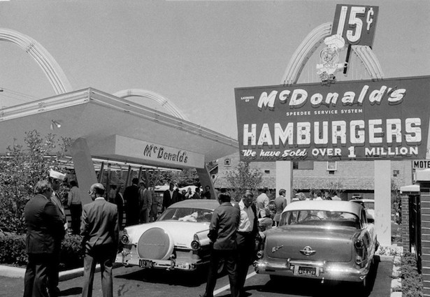 an analysis of the mcdonalds franchise by ray kroc Ray kroc perfected new franchising techniques, increasing the corporation's size while maintaining strict control of its products around this time is when cfo sonneborn came up with the strategy that mcdonald's continues to use today.