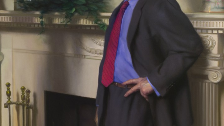 Bill Clinton S Presidential Portrait Has A Reference To