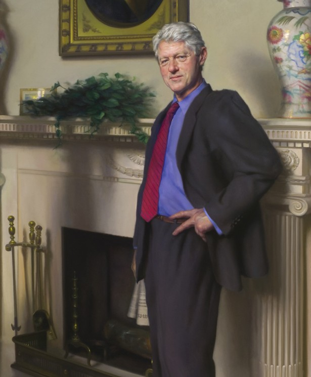 Bill Clinton Blue Dress Painting