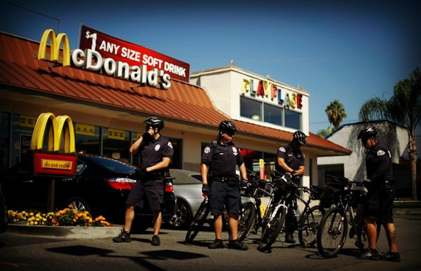 The government can't ban the fast food restaurant because of the first Amendment?