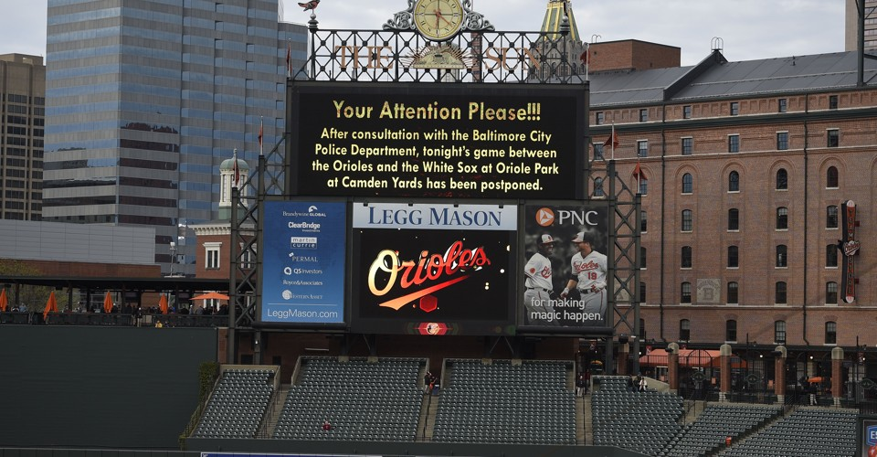 The Baltimore Orioles Will Play in an Empty Stadium Wednesday Due to
