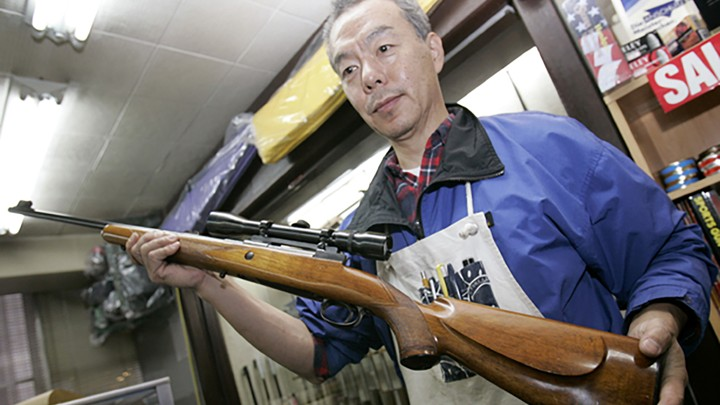 A Tokyo Gun Shop Owner Who Mostly Sells Air Rifles Displays One Of Japans Relatively Few Licensed Rifles Reuters