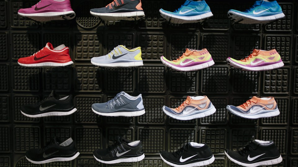 Shoes displayed at the Nike store in Santa Monica, California, in September  2013 Lucy Nicholson / Reuters