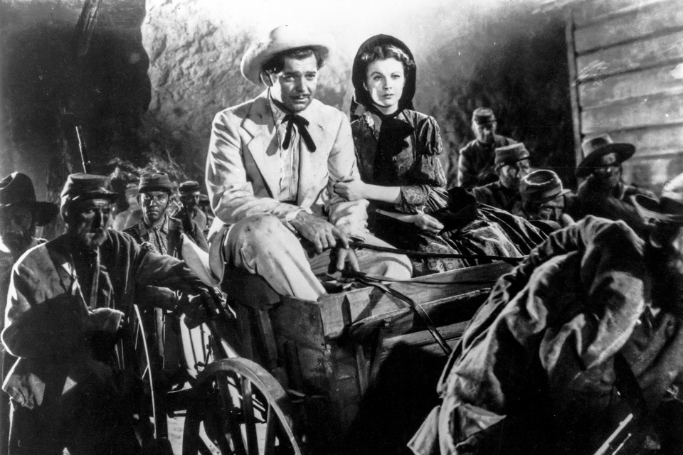gone the wind and the confederacy the atlantic rhett butler and scarlett o hara ride through a group of retreating confederate troops in the 1939 film adaptation of gone the wind ap