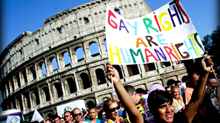 Current gay rights in italy