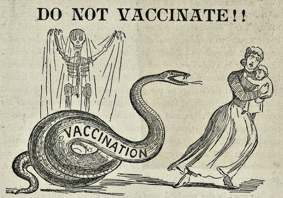 How todays anti vaccination movement traces back to victorian a cartoon from a december 1894 anti vaccination publication courtesty of the historical medical library of the college of physicians of philadelphia sciox Image collections