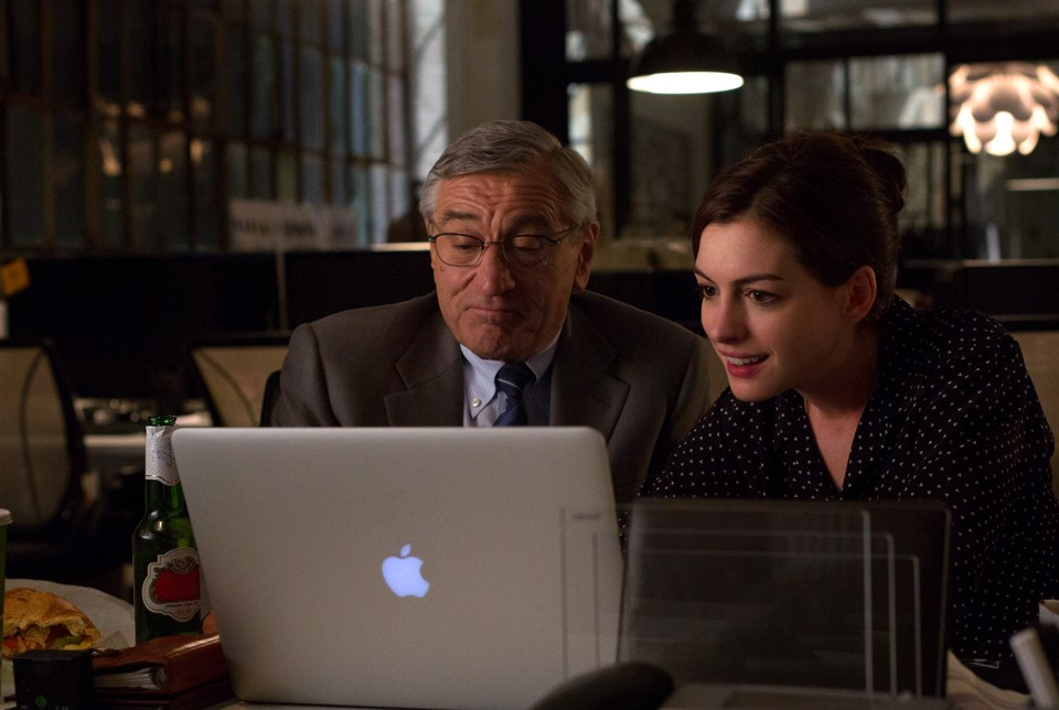 a review of the intern a comedy film by nancy meyers In nancy meyers's new film, robert de niro plays a wise old man who helps a start-up ceo played by anne hathaway find the right work-life balance.
