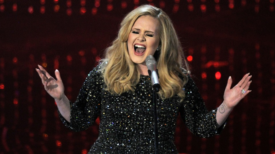 """Adele """"shapeshifted into an eight-foot reptilian"""" backstage after the final  concert of"""
