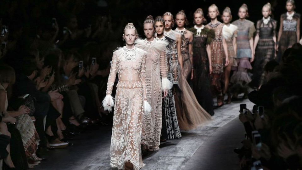 Valentino's collection at Paris Fashion Week Patrick Kovarik / AFP / Getty  Images