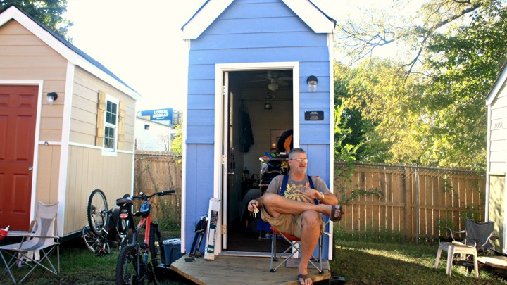Peter Regan On The Porch Of His Tiny Homealana Semuels Atlantic
