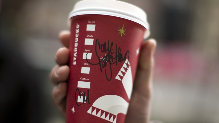 Starbucks Christmas Cups.Controversy Over Christmas Patterns On Starbucks S Cups Is