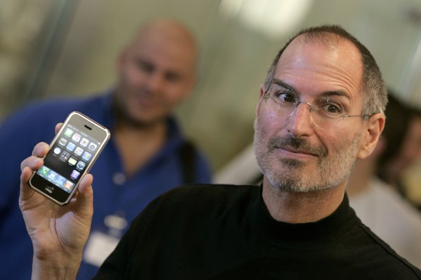 Former Apple CEO Steve Jobs Holds The Then New IPhone At An Store In London 2007 Alessia Pierdomenico Reuters