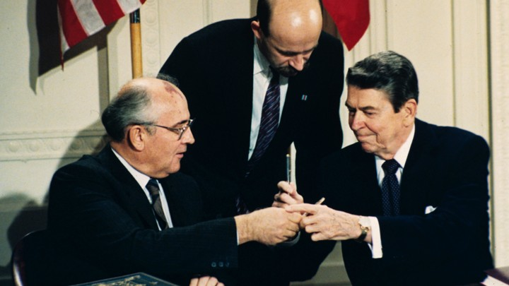 Ronald Reagan And Mikhail Gorbachev And Disarmament The Atlantic