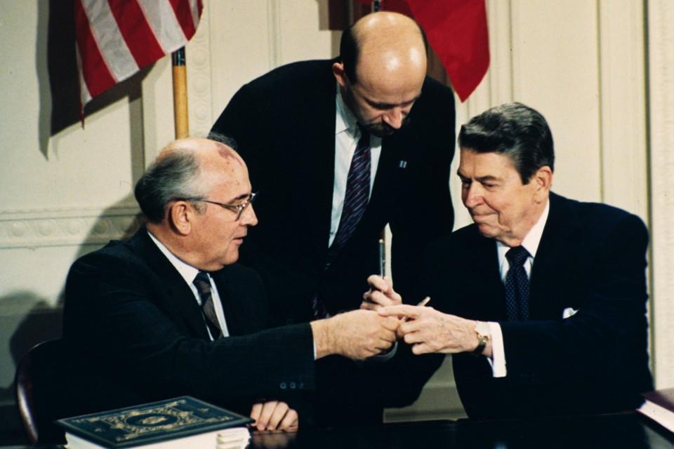 Image result for reagan gorbachev