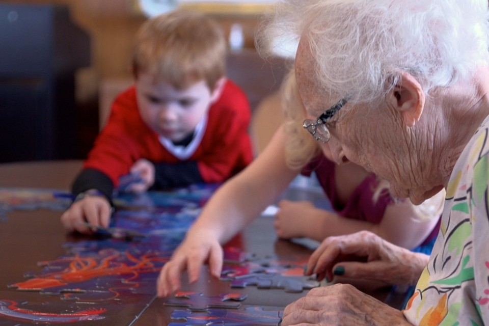 Image result for preschoolers playing at nursing home