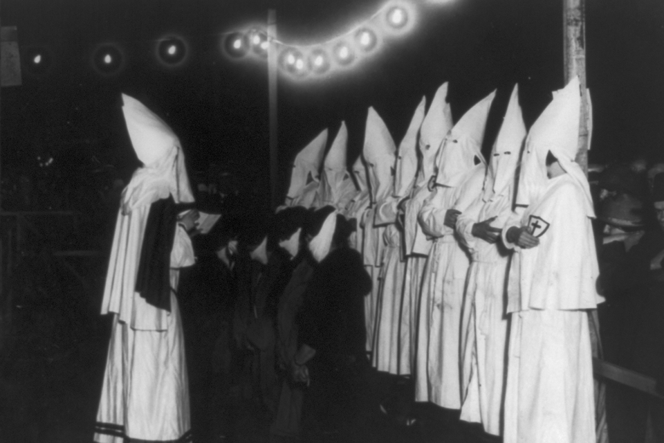 Women of the Klan at a Long Island rally in 1924 Library of Congress