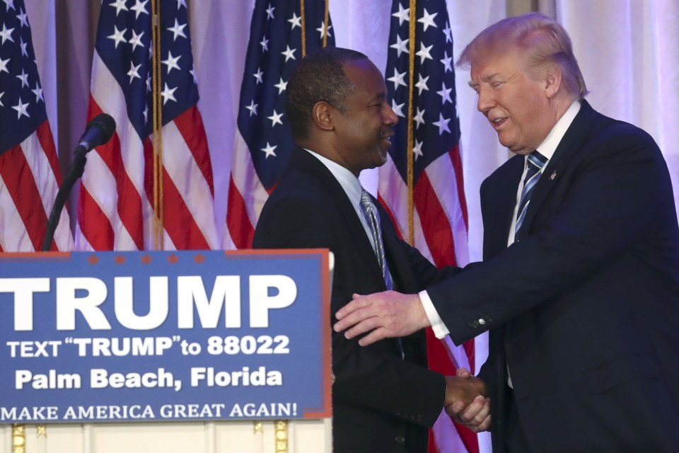 Image result for ben carson and donald trump