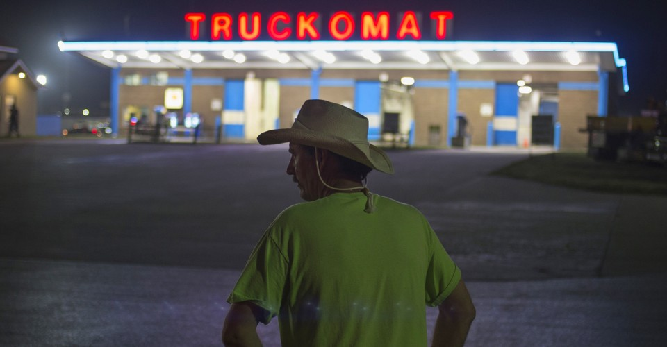 86f1bc7e128 Truck Stop  How One of America s Steadiest Jobs Turned Into One of Its Most  Grueling