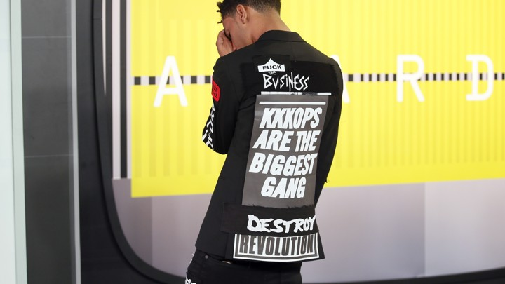 "a59f689e16d6 Vic Mensa at the MTV VMAs in 2015Danny Moloshok   Reuters. Do dangerous  times demand dangerous songs  That s the thesis behind ""Make America Rage  Again ..."
