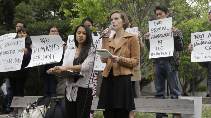 Graduate Students At University Of California, Berkeley, After They Filed  Complaints Of Sexual Harassment Against A Professor Jeff Chiu / AP