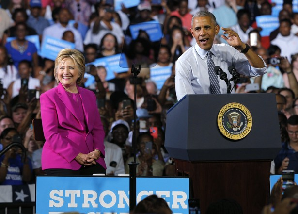 President Obama's First Campaign Appearance With Hillary Clinton ...