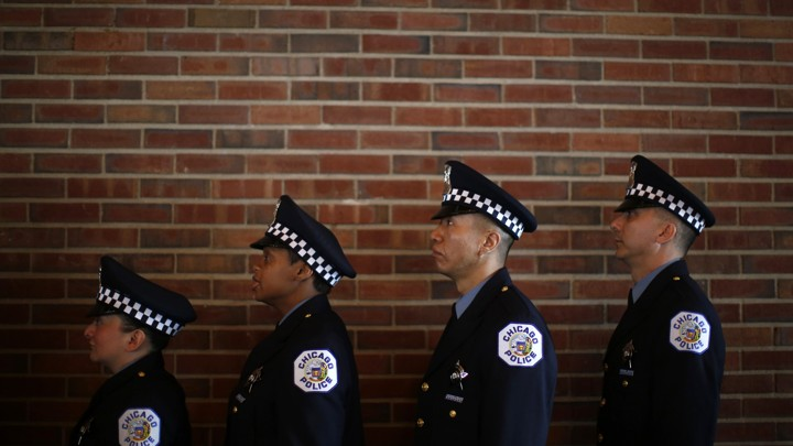 Nice Chicago Police Officers Line Up To Be Presented With Their Certificates  During The Graduation Ceremony For The Departmentu0027s Newest Recruits In  Chicago, ...