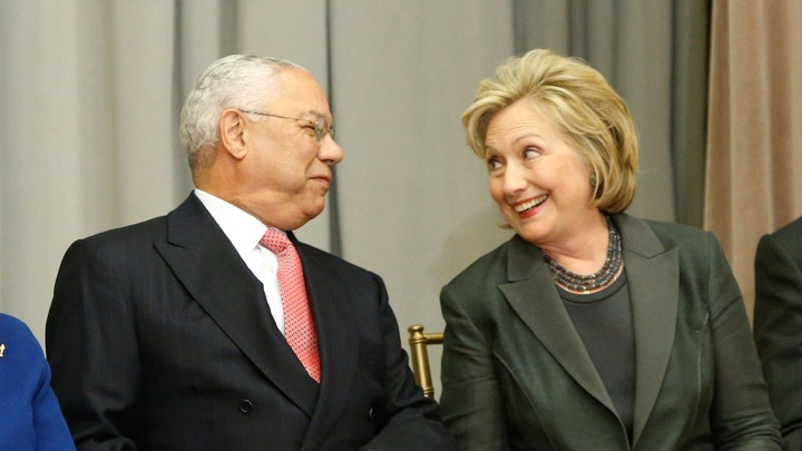 Image result for colin powell and hillary clinton