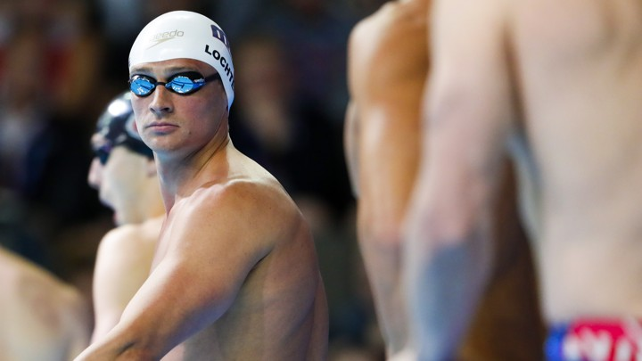 Swimmer Ryan Lochte at the U.S. Olympic Team Trials.