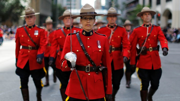 Members of the Royal Canadian Mounted Police.