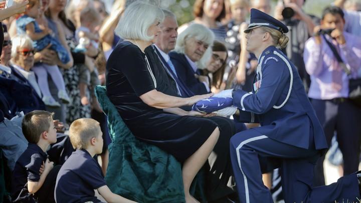 air force captain american flag arlington cemetary