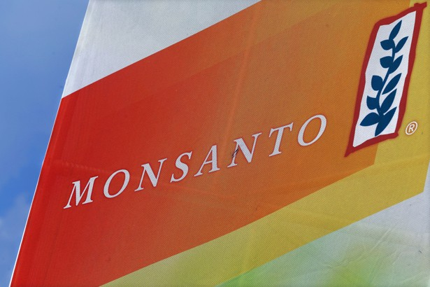 A Monsanto sign