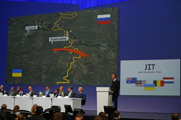 Wilbert Paulissen of the Joint Investigation Team speaks Wednesday in Nieuwegein, Netherlands, on the preliminary results of the investigation into the shooting down of Malaysia Airlines Flight MH17.