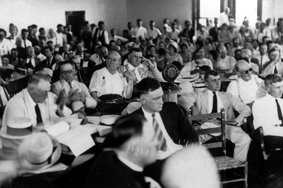 Spectators at the so-called Scopes monkey trial in Dayton, Tennessee, in July, 1925