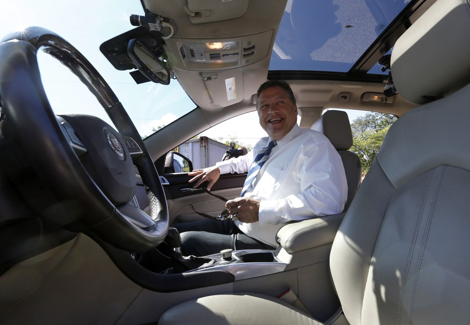 The Federal Automated Vehicle Policy requires all those involved in the making, testing, commercializing, or riding on driverless vehicles to meet a 15-point safety assessment. Image Source: The Atlantic
