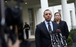 Two members of the Patriotic Millionaires, Tal Zlotnisky and Abigail Disney, at the White House in 2012