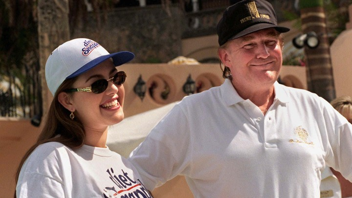 Alicia Machado with Donald Trump at Mar-a-Lago in 1997