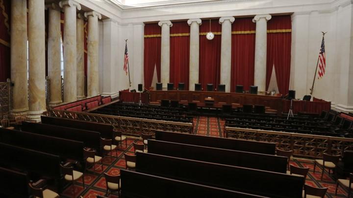 The U.S. Supreme Court courtroom.