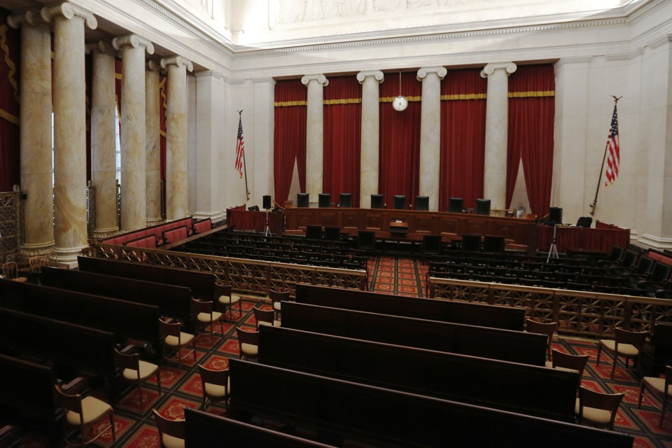 The U.S. Supreme Court courtroom.