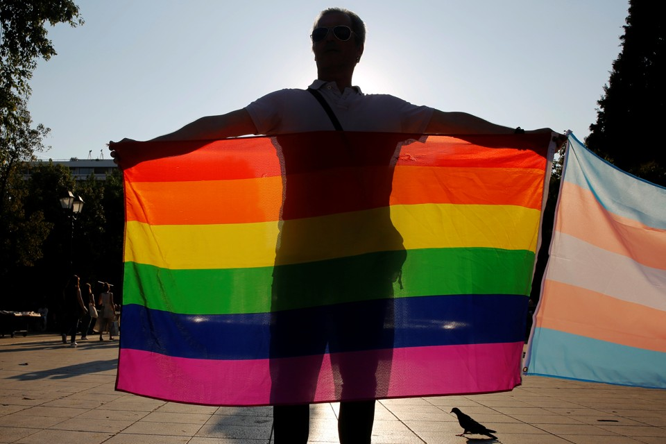 A Supporter Of Lgbt Rights Protests In Greece Yannis Behrakis Reuters