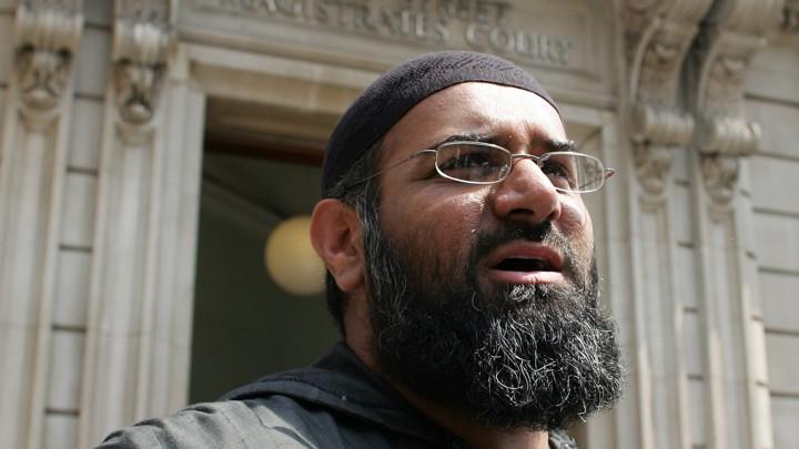 Outspoken British Muslim Cleric Anjem Choudary in London, England.