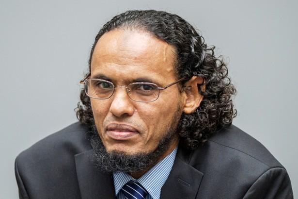 Ahmad al-Faqi al-Mahdi appears at the International Criminal Court in The Hague on August 22.