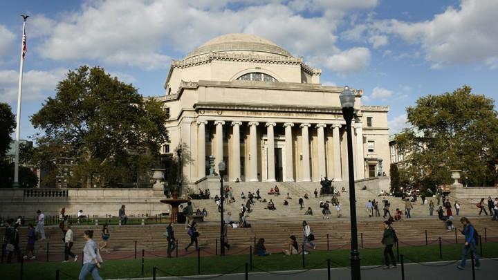 students walk across columbia university in new york mike segar reuters