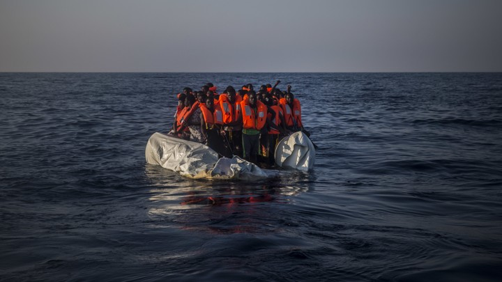 A rescue operation off the Libyan coast on September 10