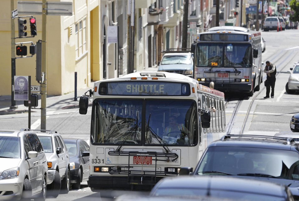 A MUNI bus in San Francisco